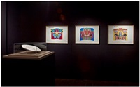 studies for the hoods (installation view at riflemaker, london) by judy chicago