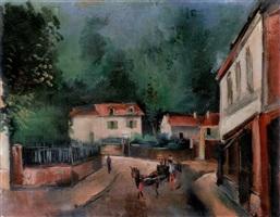 place de village by maurice de vlaminck