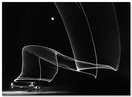 navy helicopter rotor pattern made by helicopter wing lights, anacostia, md by andreas feininger