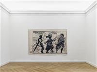 3 figures (installation view) by william kentridge