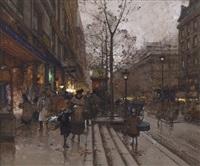 les grands boulevards, paris by eugène galien-laloue