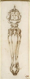 design for a hilt of a sword or a knife handle by stefano della bella