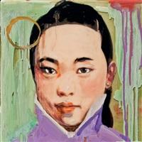 calendar girl (green) by hung liu