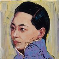calendar girl (yellow/green) by hung liu