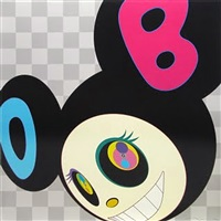 and then black mr dob by takashi murakami