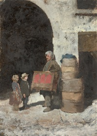 two works based on the photograph of le joueur d'orgue barbarie by charles nègre
