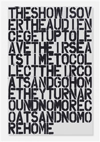 untitled (poster) by christopher wool