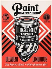 paint it black by shepard fairey