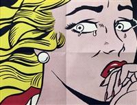 crying girl mailer by roy lichtenstein