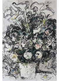 the white bouquet by marc chagall