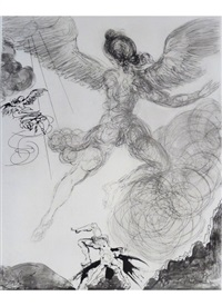 icarus, from mythologie by salvador dalí