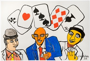 dallas (card players) by alexander calder