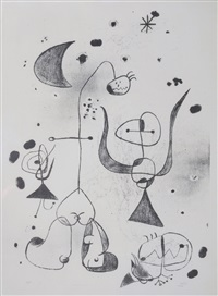 barcelona series - composition no 39 by joan miró