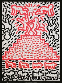 lot 391: untitled (1981) by keith haring