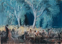saturday night, westport by everett shinn