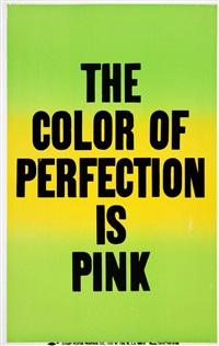 the color of perfection is pink by allen ruppersberg