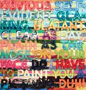 obvious by mel bochner