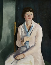 portrait of florence budd by george wesley bellows