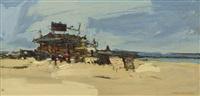 beach shop by wayne thiebaud