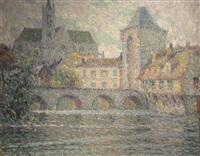 l'eglise et le pont by henri le sidaner