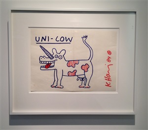 uni-cow by keith haring