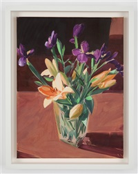 lilies and irises by sebastian blanck