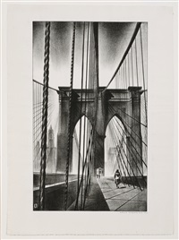 brooklyn bridge by louis lozowick