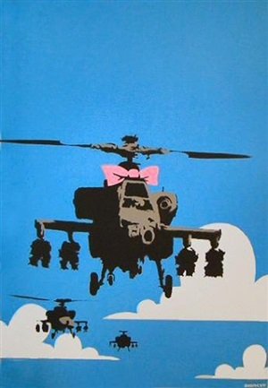 happy choppers (rare signed artist's proof edition of 30) by banksy