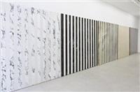 view of the exhibition « au fur et à mesure, travaux in situ et situés » by daniel buren