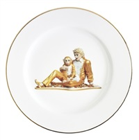 banality series (service plate) by jeff koons