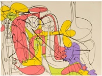 reclining nude forms (state i) by george condo