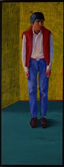 portrait of yves marie hervé by david hockney
