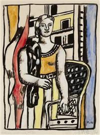 femme à l'écharpe by fernand léger