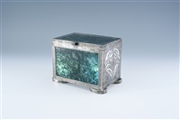an important silver and agate box by the wiener werkstätte by josef hoffmann