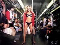 sarah jessica parker : sex in the subway by david lachapelle