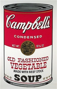 old fashioned vegetable, from campbell's soup ii fs ii.54 by andy warhol