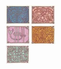 complete chocolate buddha suite by keith haring