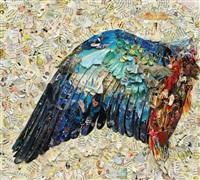 wing of a blue roller after albrecht dürer, (pictures of magazine 2) by vik muniz