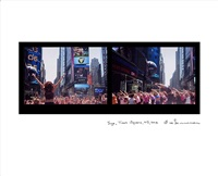 yoga, times square, new york by eve sonneman