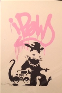 gangsta rat pink by banksy