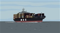container ship by kota ezawa