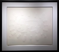 white icons - radiant baby by keith haring