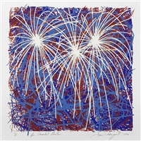 fireworks for president clinton by james rosenquist