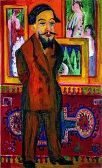 männerbildnis leon schames / portrait of leon schames by ernst ludwig kirchner