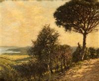 ligurian landscape by henry herbert la thangue