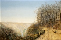 late autumn on the esk by john atkinson grimshaw