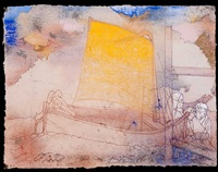 yellow sail (après redon) by irving petlin