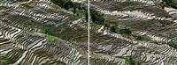 rice terraces #3a & #3b, western yunnan province, china by edward burtynsky