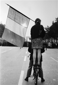 avenue des champs-elysees, paris, france by henri cartier-bresson