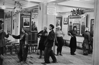 canteen for workers building the hotel metropol, moscow by henri cartier-bresson